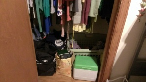 Clean and organized closet!
