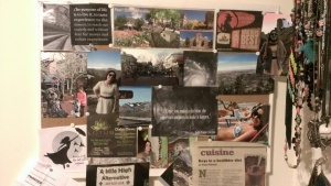 Vision board before the changes