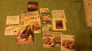 Start a Collection: Cook books, food magazines, etc.