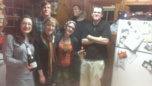 We had to take this pic, since this is the first time everyone in the upcoming wedding has been in the same place at the same time. Me, Brittany, Justin, plus Nikki from East TN, Brett from Memphis and Cameron from NC