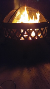 Their fire pit is way cooler than ours